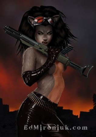 ed mironkium warrior wolf woman