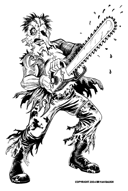 Texas chainsaw massacre pages coloring pages for Chainsaw coloring pages