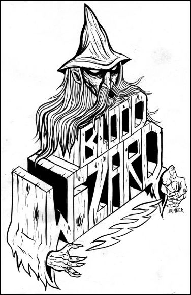 blood wizard design