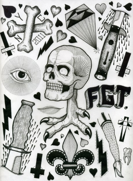 david_cook tattoo flash 1