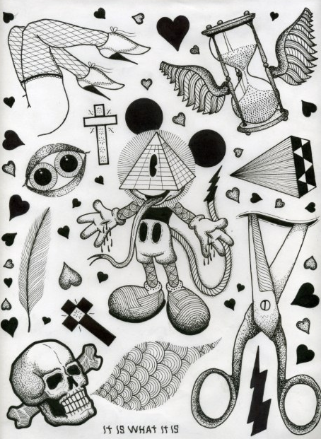 david_cook tattoo flash 2