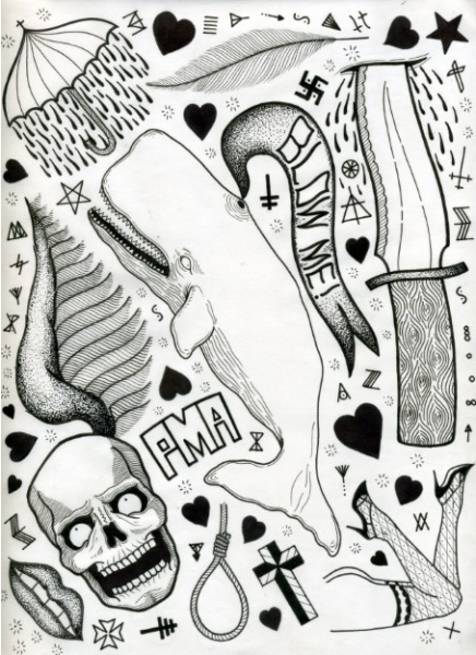 david_cook tattoo flash 3