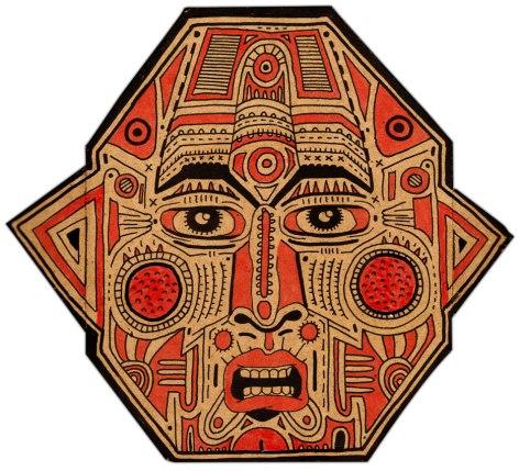 mascara-rojo-negro