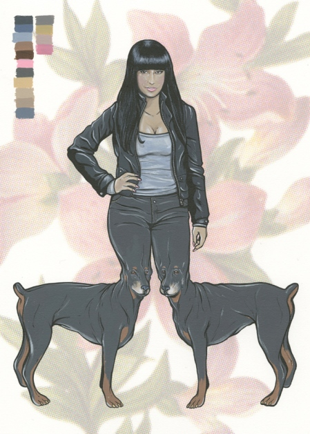 nicki minaj dog legs