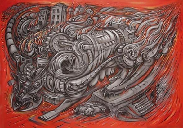 scott hove painting juggernaut