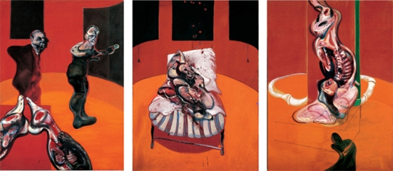 Francis Bacon - Three Studies for a Crucifixion (1962)