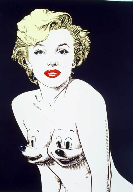 painting_marilynCartoon ron english