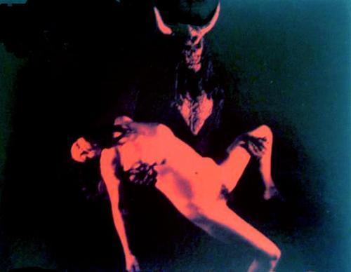 devil holding