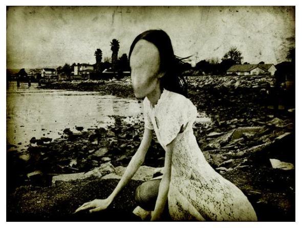 faceless thin woman