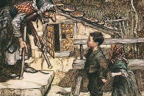 Hansel and Gretel by Arthur Rackham 1909.